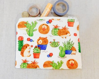 Pencil Case/ Hedgehog Gift for Her/ Graduation Gift/ Gift for Mom/ Best Friend Gift/ Teacher Gift/ Sister Gift/ Make Up Bag/ Pouch