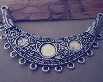 4pcs Antique silver Arc shape pendant charm 27mmx92mm