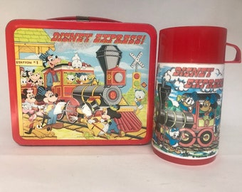 1979 Disney Express Lunch Box and Thermos Excellent!