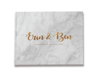 Marble Wedding Guest Book, Marble Guest Book, Marble Guestbook, Marble and Gold Wedding Guest Book, Color Choices Available, GB 156