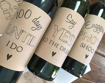 Engagement gift, engagement for couple, wine engagement gift, engagement party, wedding engagment party gift, newly engaged