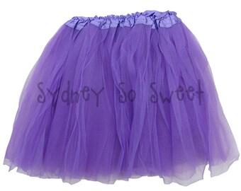 Purple - PLUS Size XL or Extra Plus XXL Adult, Teen, Women's 3 Layer Ballet Tutu Skirt - Three Layers, Costume, Running, 5K, Party Skirt