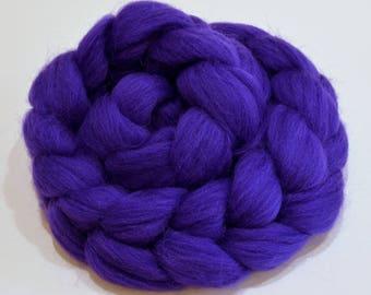 Merino Wool Combed Top - Purple - Spinning - 100 grams
