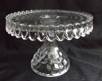 Fostoria American Clear Old Round Cake Stand PERFECT!