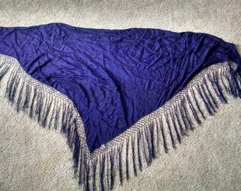 Purple Silk Tye Dyed Hip Scarf or Shawl