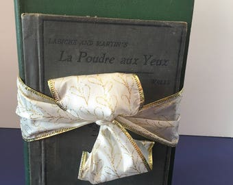 La Poudre Aux Yeux by Labiche and Martin ~ Seven Contemporary Plays by Charles H Whitman ~ Two Vintage Books Bundle
