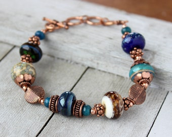 Lampwork Bracelet - Featured in Bead Trends Magazine