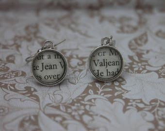 Jean Valjean Earrings ~ Les Miserables ~ Victor Hugo ~ Les Mis~