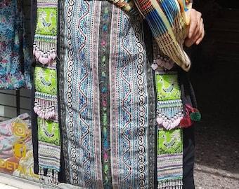 Hmong bag, tribal bag, Boho bag, beach bag, big bag, tote bag