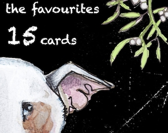 Special Offer Bull Terrier Christmas Cards  15 Christmas Favourites
