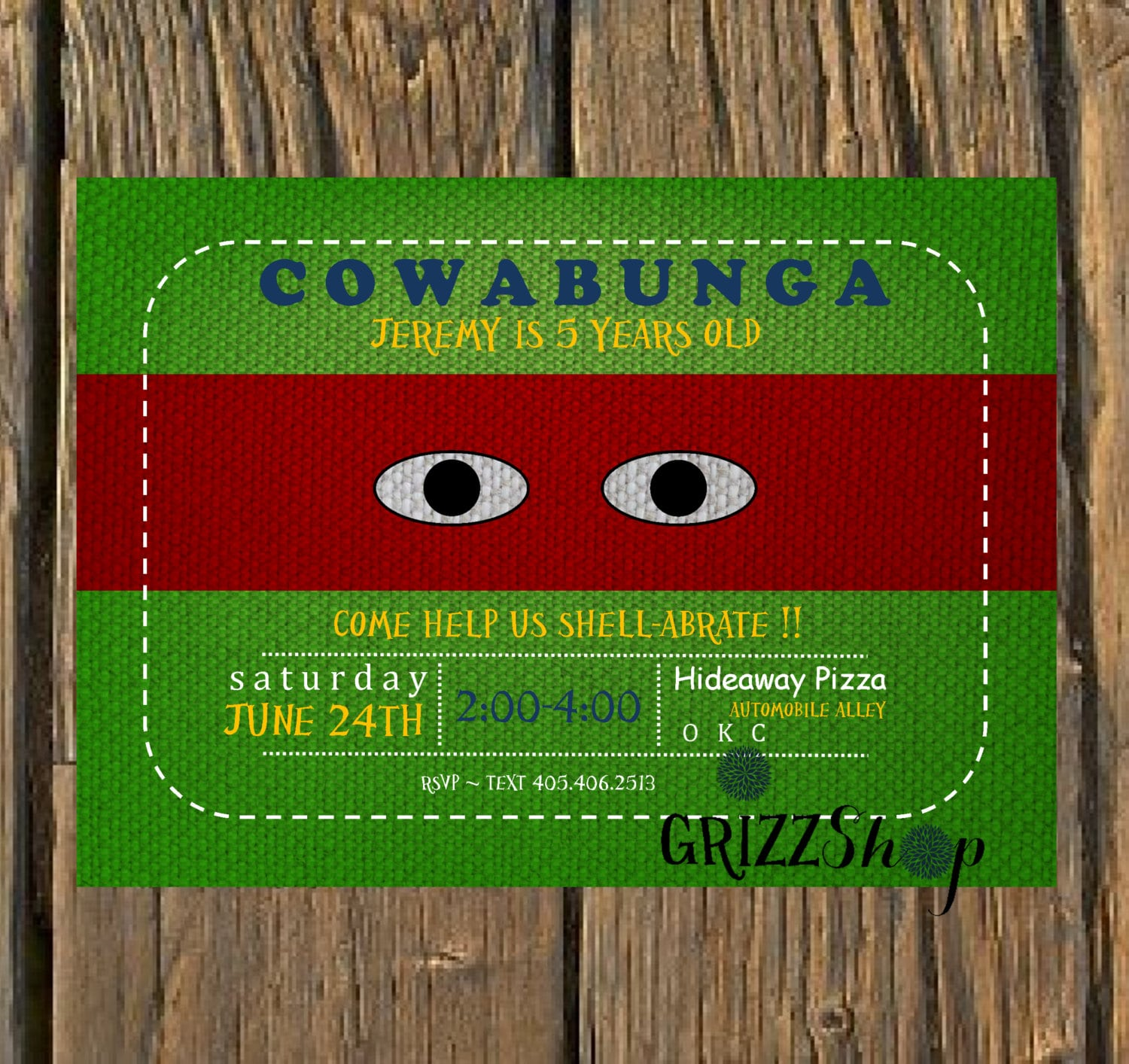 Old Fashioned Ninja Turtle Party Invitations Ensign - Resume Ideas ...