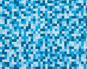 Blue Tone on Tone Bitmap Pixels from Michael Miller