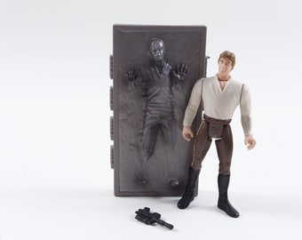Star Wars, Han Solo, Frozen, Hibernated, Plastic, Toy, Figure, Children, Collection, Vintage, ~ 170126