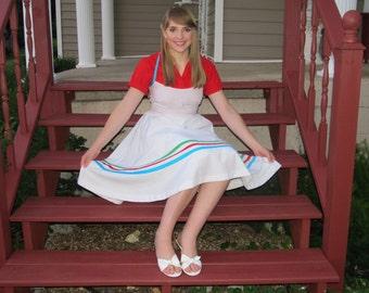 Retro 50's Petticoat Dress Halter Strap Day Dress, Sun Dress Bridesmaide Sz. US 8-10