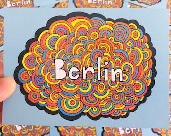 Berlin Bubbles Postcard