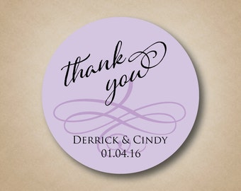 Wedding Stickers Personalized Wedding Favor Labels Thank You Stickers Custom Wedding Label Personalised Wedding Stickers Round Favor Sticker