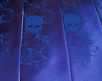 Necktie  Mens microfiber skull tie print by RokGear Custom colors print to order bulk discounts wedding work or play