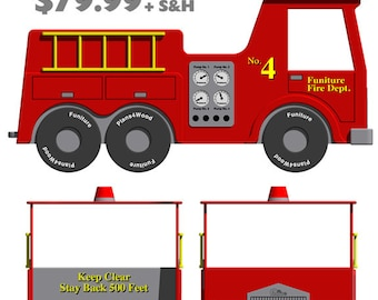 Graphics: Fire Truck Bed(Twin Size)