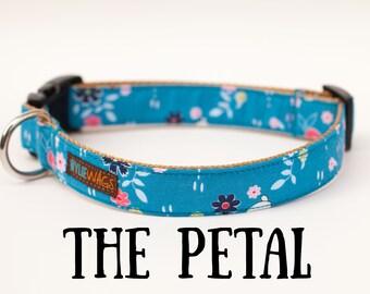 Blue Floral Dog Collar, girl dog collar, dog collar, dog lover, collar, flower, floral, Easter