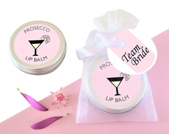 Bridal Shower Gift-Gift for Her-Hen Party Favour-Bridal Shower Favour-Bachlorette Favour-Hen Do Favour-Prosecco lip balm-Hen Party