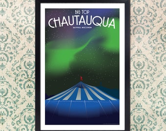 Lake Superior Big Top Chautauqua Art Deco Travel Prints