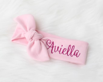 Personalized baby etsy personalized baby headband personalized headband for girls name baby headband personalized name bow negle Images