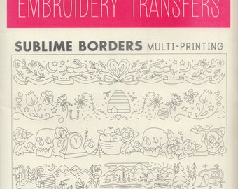 Sublime Stitching Embroidery Patterns   Iron on Transfer Hand Embroidery Pattern - Border Embroidery Designs - Sublime Borders