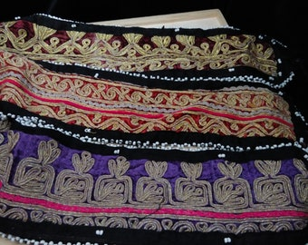 Bulk Lot Kuchi Tribal Fusion ATS Belly Dance Belt Bases Set of 3