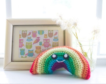 Rainbow Plush Toy - Nursery Decor - Baby Shower Gift - Rainbow Baby Gift - Rainbow Photo Prop - Rainbow Baby Memory