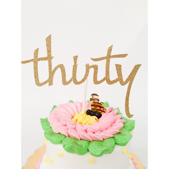 30th Birthday Cake Topper Thirty Birthday Cake Toppers Dirty