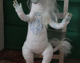Unicorn poseable art doll, ooak