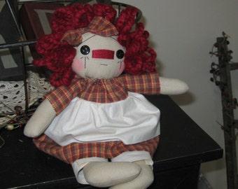 Raggedy Ann - Raggedy Ann Doll - Raggedy Ann Shelf Sitter