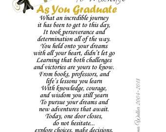 Graduation poem | Etsy