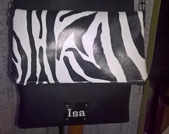 """shoulder bag with flap """"Zebra"""""""