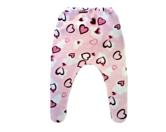 Baby Girls' Pink Hearts Tights. 6 Sizes Preemie, Newborn, Toddlers up to 24 Months. Perfect for Valentine's Day or Any Day!