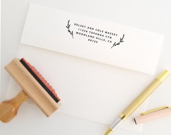 Featured listing image: Return To Stamp, Wedding Gift Stamp, Return Addressed, Return Label Stamp, DIY Address Stamp, New Apt Address, Laurels (512)