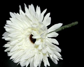 Creamy White Spider Daisy Pick - Artificial Flower, Silk Flower