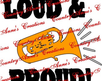 "SVG PNG DXF Eps Ai Wpc Cut file for Silhouette, Cricut, Pazzles, ""Loud and Proud"" svg"