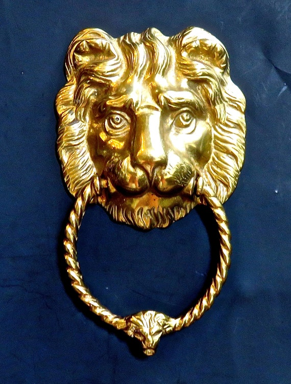 Brass Lion Door Knocker, Lionu0027s Head, Estate Door Knocker From DsTrove On  Etsy Studio