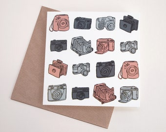 Cameras Art Greeting Card | Any Occasion | Blank Inside