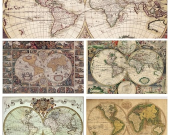 Old maps download, Old maps textures digital paper, Vintage background, Vintage world maps, Instant Download for Personal and Commercial Use