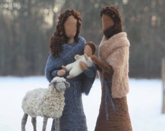 Nativity Set/ Needle Felted Nativity