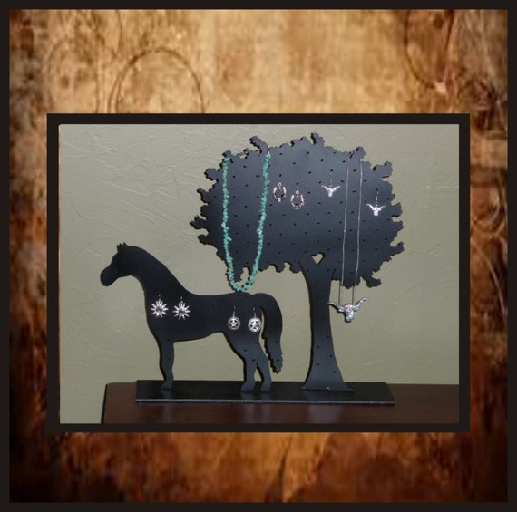 Horse Tree Earring Necklace Holder Display Western Jewelery