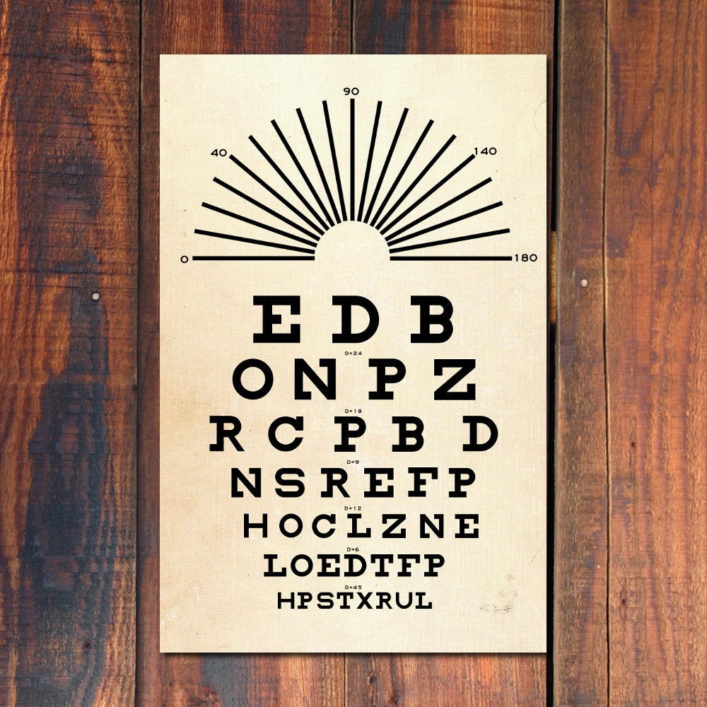 Vintage eye chart poster image collections free any chart examples eye chart poster print snellen eye chart poster vintage art zoom nvjuhfo image collections nvjuhfo Choice Image