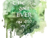 Tolkien Quote Painting - ...
