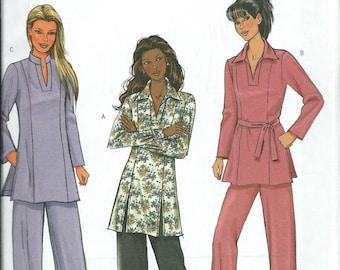 Butterick 4296 Misses/Miss Petite Tunic, Belt And Pants Pattern, XS-S-M Uncut