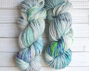 Hand Dyed Yarn | Calin Bulky Base | 100g Bulky Weight | April Showers