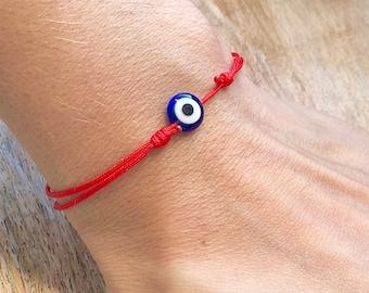 Evil Eye Red String Protection Amulet Protection Bracelet Red String Bracelet Kabbalah Evil Eye Bracelet Mens Womens Lucky Eye Birthday Gift