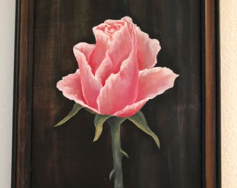 """Original Acrylic Painting """"A Rose"""" by Cecily Emond"""