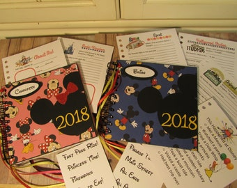 SALE Mickey or Minnie Mouse Disney Autograph Book with Journal Cards YR2018
